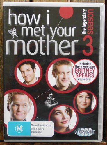 1 of 1 - HOW I MET YOUR MOTHER  : Season 3      (Region 4  DVD 3-Disc Set)          (B52)