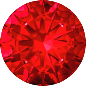 RUBY Cubic Zirconia Loose Stones CZ Round Brilliant diamante 1-5mm corundum