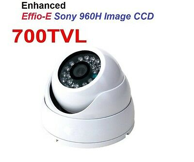 SONY EFFIO-E 700TVL CCD CCTV Surveillance 24 IR Night Vision White Dome Camera