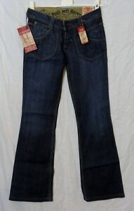 NEW! Duck   Cover Designer Womens Low Hip Boot Cut Blue Jeans W26 ... e18cf8ebe