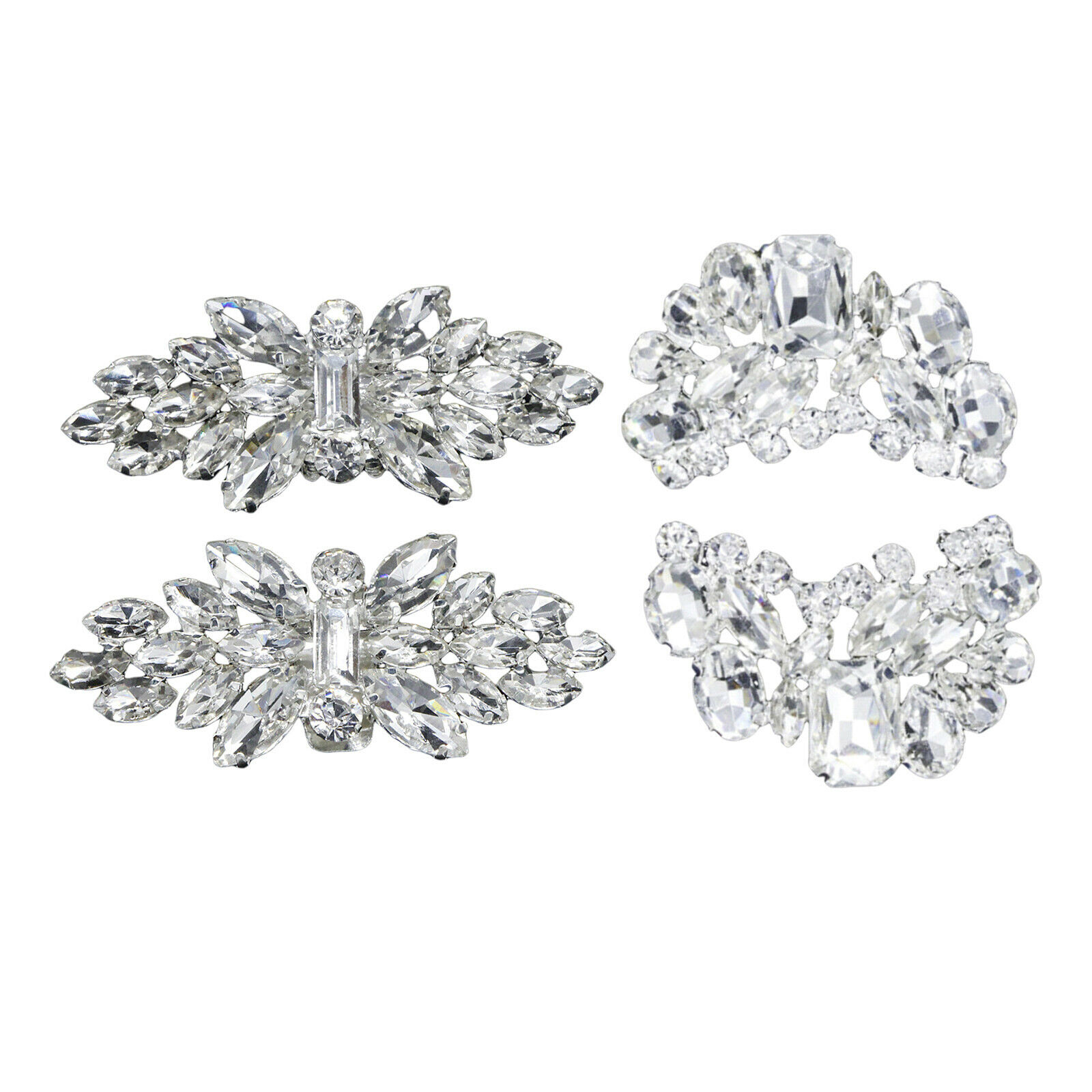1 Pair Rhinestone Shoe Clips Women's Removable Craft Party Prom Shoe Buckle