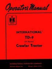 International Harvester Td 9 Series 91 Crawler Tractor Operators Manual Td9 Ih