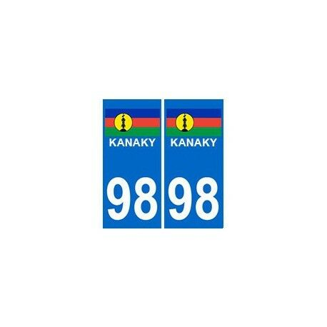 98 kanaky caledonie autocollant droits