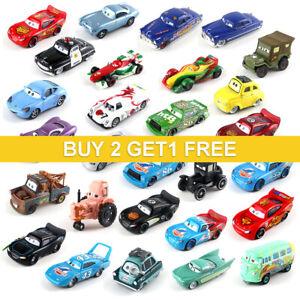 Disney Pixar Mattel Model Cars McQueen 1:55 Diecast Lot Loose Kids Toy Gift