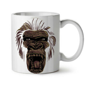 Wild Animal Monkey Face NEW White Tea Coffee Mug 11 oz | Wellcoda