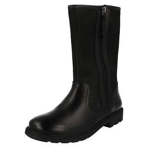 Ines mi Bottes mollet Clarks Black pour fille Rain 6xwFqX