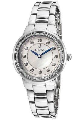 Bulova 96R174 Rosedale Women's Diamond Mother of Pearl Dial Watch $475
