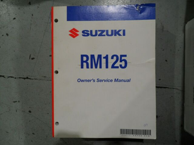 2007 Suzuki Rm125 Owners Service Manual
