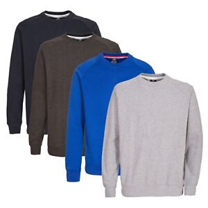 Trespass-Thurles-Mens-Plain-Jumper-in-Blue-Brown-Black-amp-Grey