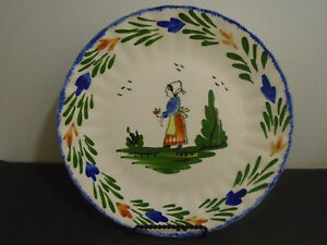 VINTAGE-BLUE-RIDGE-SOUTHERN-POTTERIES-HAND-PAINTED-PLATE-10-3-8-034