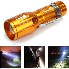 Ultrafire 2200 Lumens CREE XM-L T6 LED Flashlight High Power Torch  Zoom Yellow