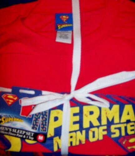 Superman Sleep Set Man of Steel Microfleece DC Comic Men Size S M or L New