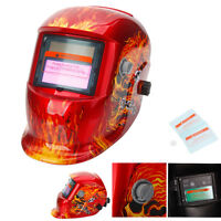 Pro Solar Automatic Darkening Mask Protective Gear Welding Helmet Flame Skull