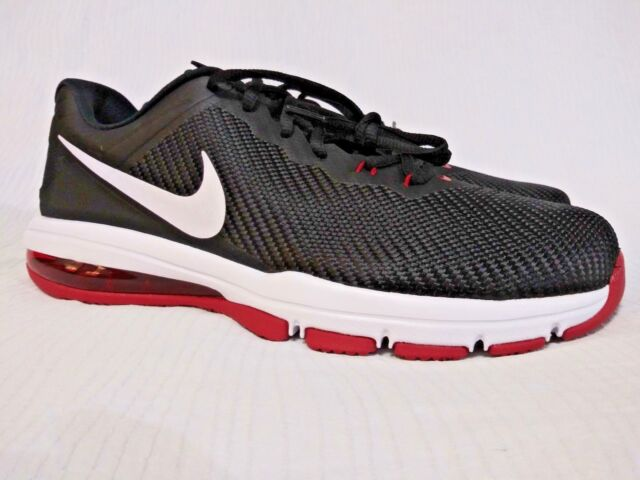 Nike Air Max Full Ride TR 1.5 Mens Size 13 BlackWhiteRed 869633 060