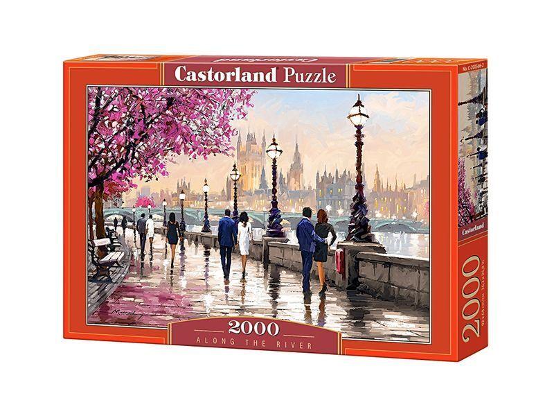 Castorland puzzle 2000 stck entlang des flusses 92x68cm 36  x27  versiegelte kiste c200566