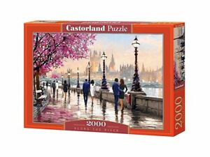 "Castorland Puzzle 2000 Pieces Along the River 92x68cm 36""x27"" Sealed box C200566"
