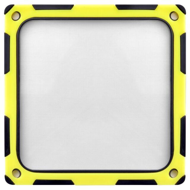 Silverstone * Staubfilter und Geräuschdämmung für 120mm Lüfter * schwarz-gelb *