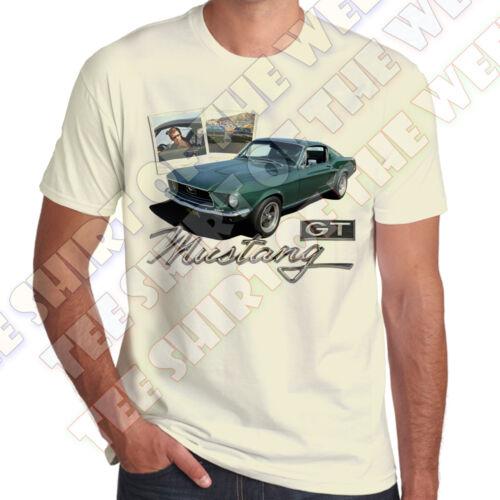 Bullitt Mustang GT 390 Steve Mcqueen Chase Polaroids T-shirt 7 col to choose