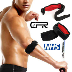 Tennis Elbow Support Brace Golfers Strap Epicondylitis Arthritis Band RSI Clasp