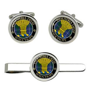 Wauchope-Scottish-Clan-Cufflinks-and-Tie-Clip-Set
