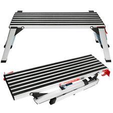 Aluminum Step Stool Folding Bench Work Platform Non Slip Drywall Ladder 330lbs