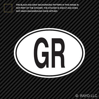 Greece Oval Sticker Decal Vinyl Greek Country Code euro GR v4