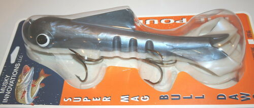 "15/"" Super Magnum Double Tail Bull Dawg Musky Innovations Cisco Plastic Body"