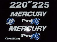 Mercury Optimax Proxs 225 200 Hp Outboard Engine Decal Marine Vinyl Kit