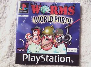 74368-Instruction-Booklet-Worms-World-Party-Sony-PS1-Playstation-1-2001-SL