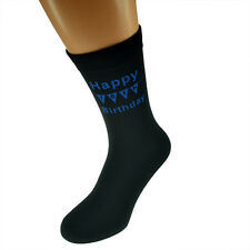 Happy 18th Birthday with Bunting Printed Mens Black Socks 18th Birthday Gift
