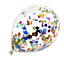 miniature 7 - 20-Pcs-Mix-confettis-ballons-latex-12-034-decorations-a-L-039-helium-Fete-D-039-anniversaire-Mariage