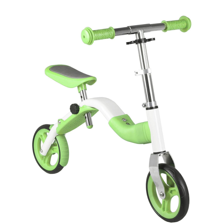 Anlen Lernlaufrad und Roller SAMSA, 2 in 1, grün Laufrad Lauflernrad