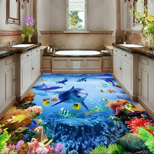 3D Sea World 7 Floor WallPaper Murals Wall Print Decal 5D AJ WALLPAPER