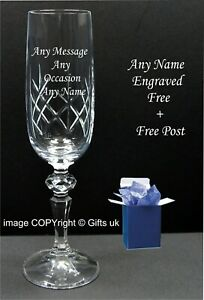 Leaving Gift Birthday Free Engraving Personalised Crystal Wine Glass Retirement