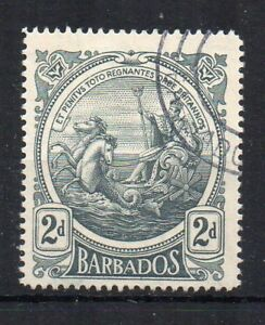 Barbados-1919-2d-Gris-Negro-Sello-De-Colonia-Fu-Cds