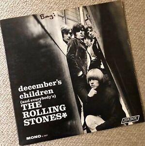 "THE ROLLING STONES ""December's Children"" -- Original 1965 Mono LP First Pressing"
