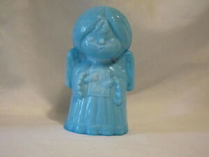 Details about Vintage Mosser Glass Singing Angel Powder Blue Paperweight  Figurine