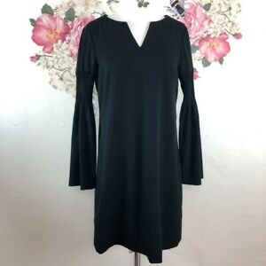Phoebe-Couture-Women-039-s-Black-Bell-Sleeve-Dress-Size-6