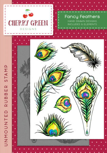 SHOES Shoes Feathers Flowers You Choose Cherry Green A6 Stamp Collection