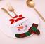 Xmax Santa Christmas Bag Dinner Table Chair Win Bottle Cutlery Holder Cover Gift