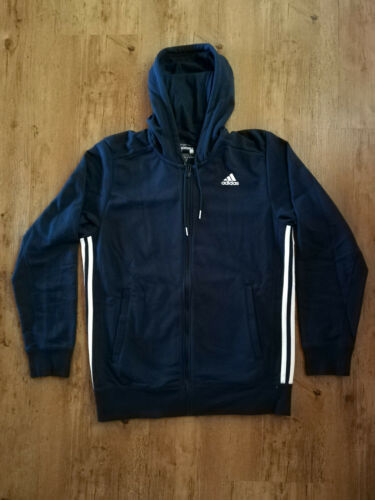 Adidas Kapuzenjacke Sweatjacke Jacke Sport Herren dunkelblau Trainingsjacke NEU