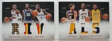Rivals Lakers Oklahoma Preferred 6 Jersey Patch Card Kobe Bryant, Durant #24/25