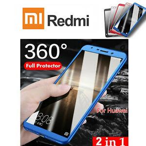 COVER per Xiaomi Redmi Note 8T CUSTODIA Fronte Retro 360° VETRO TEMPERATO 9H