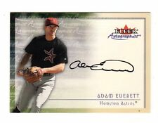 ADAM EVERETT MLB 2001 FLEER AUTOGRAPHICS (HOUSTON ASTROS)