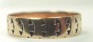 Antique-Victorian-Women-039-s-Wedding-Band-9-CT-Rose-Gold-Ring-Size-6-5-UK-M1-2