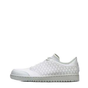 Mitad de precio estilo distintivo envío directo Detalles de Nike jordan 1 Vuelo 5 Low para Hombre Zapatos Blanco/Blanco