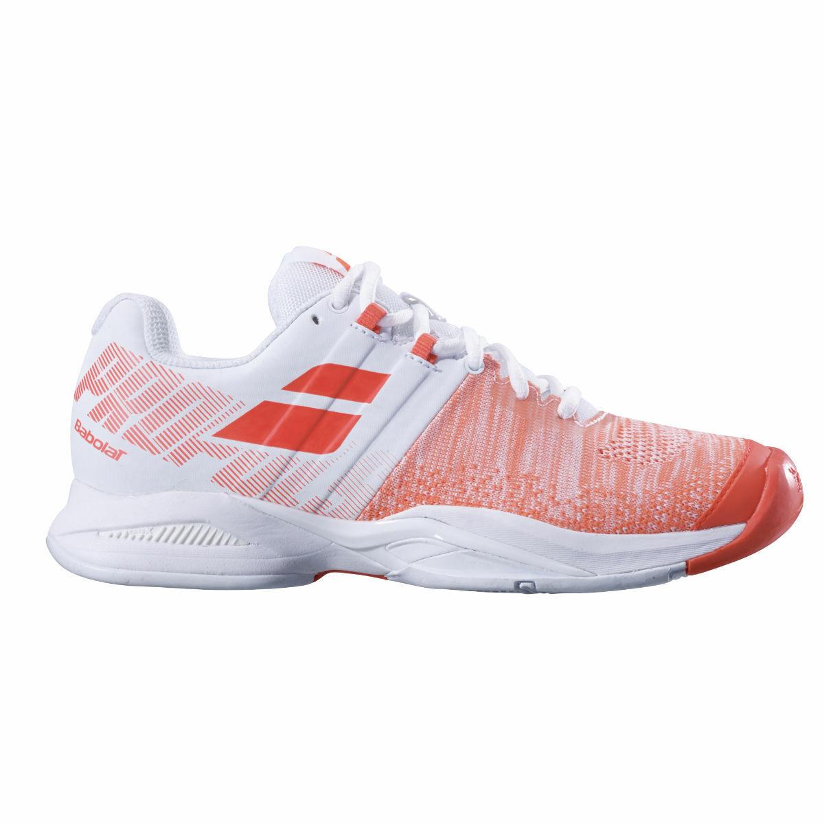 Babolat Propulse Blast AC Mujeres Tenis Zapato-blancoo Rojo-Distribuidor Autorizado