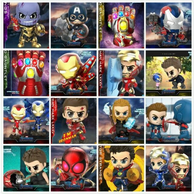 Endgame PVC Figure Doll Hot Toys COSB553 COSBABY Movbi /& Iron Man MK85 Avengers