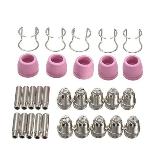 30PCS Plasma Cutter Torch Electrodes Tips Nozzles Cup Guide Kit for SG-55 AG-60