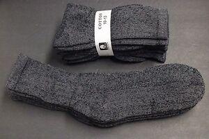 4-Pair-039-s-Men-Women-10-13-BLACK-GRAY-Long-Crew-Socks-Cotton-Athletic-Socks